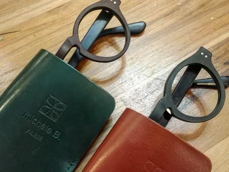 lunettes sur mesure en cuir