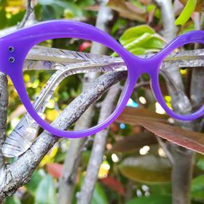 lunettes sur mesure lilas / purple bespoke eyewear