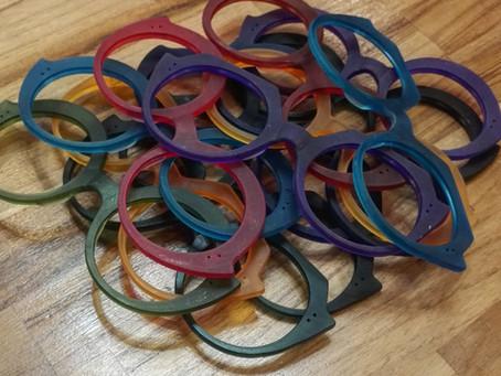 Nouvelle collection en cours de fabrication / lunettes colorées