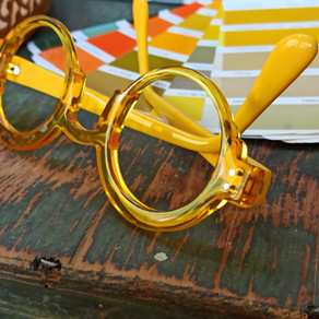 Lunettes sur mesure jaunes / yellow bespoke eyewear