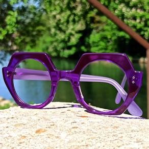 Lunettes sur mesure violettes / purple bespoke eyewear