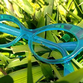 Lunettes sur mesure turquoises / turquoise bespoke eyewear