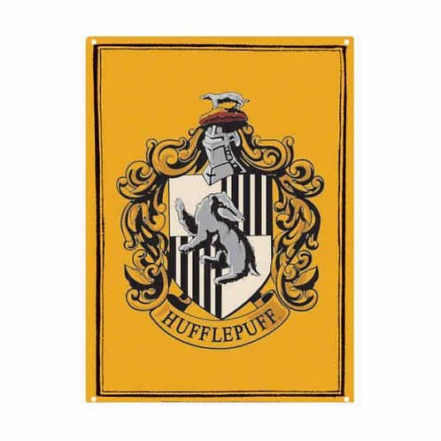 Harry Potter Small Tin Sign - Hufflepuff