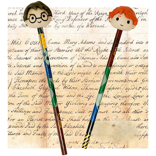 Harry Potter Pencil Set With 3D Erasers
