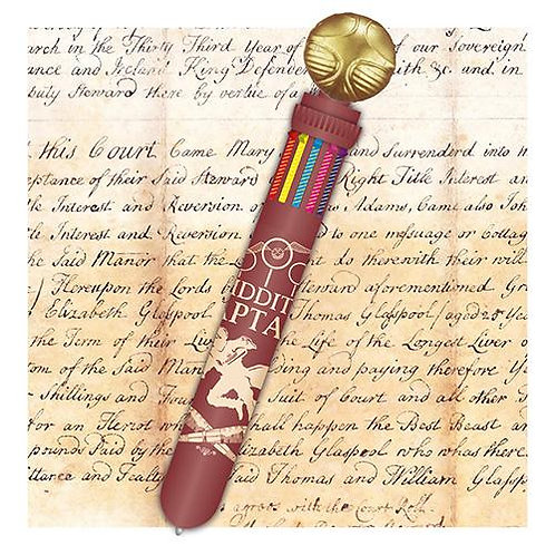 Harry Potter Golden Snitch 10 Colour Pen