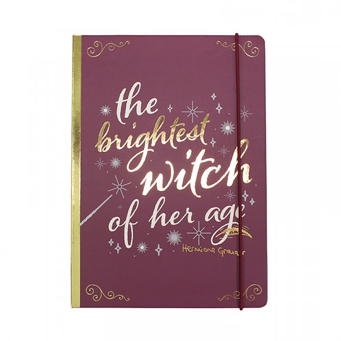 Harry Potter A5 Notebook - Hermione Granger - The Brightest Witch