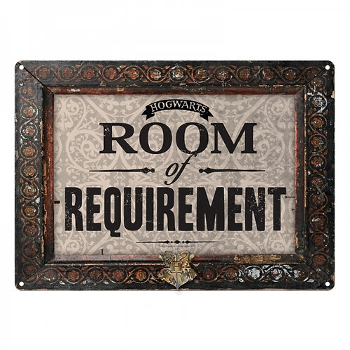 Harry Potter Small Tin Sign - Room of Requirement