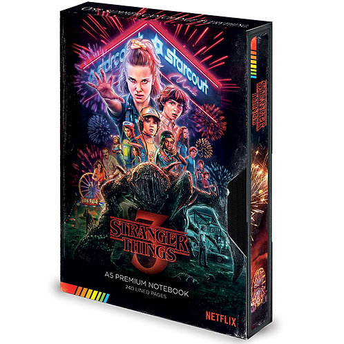 Stranger Things Premium Notebook (Season 3 VHS)