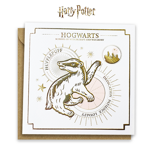 Harry Potter Hufflepuff Yule Ball Card