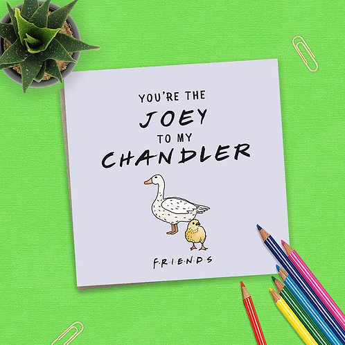 Friends You're The Joey To My Chandler