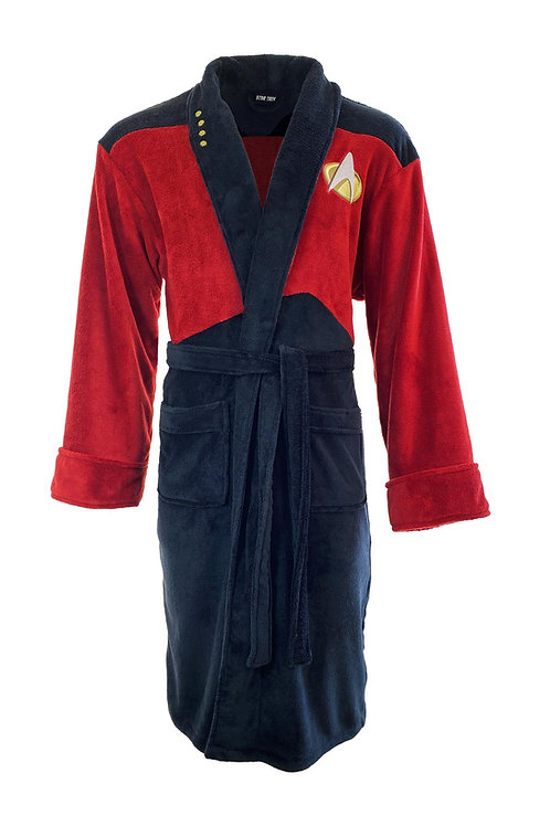 Star Trek Red Captain Picard New Generation Bathrobe