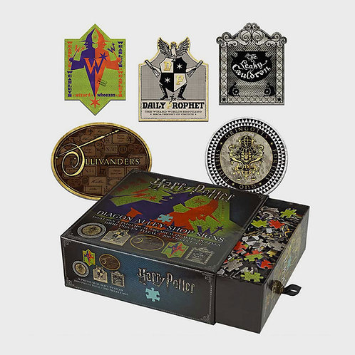 Harry Potter Diagon Alley Shop Signs Jigsaw Puzzle