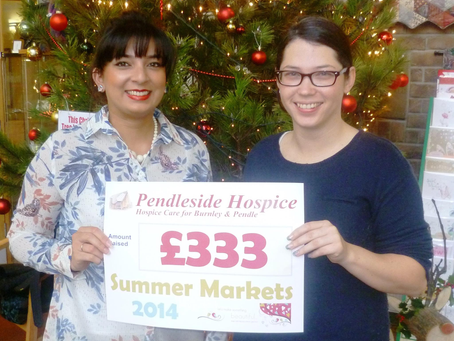 Raising Money for Pendleside Hospice