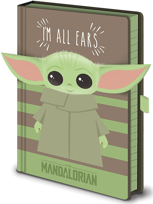 The Mandalorian (I'm All Ears Green) Premium A5 Notebook