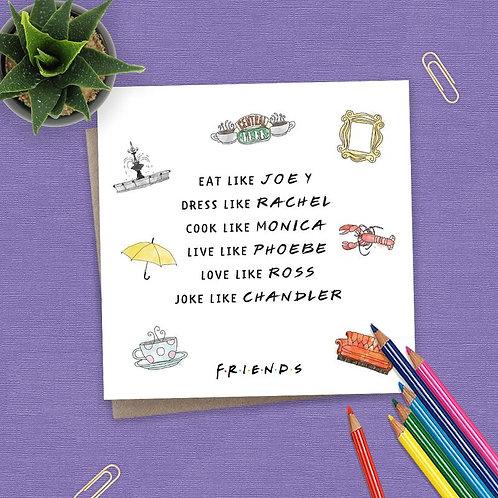 Friends Eat Like Joey Watercolour