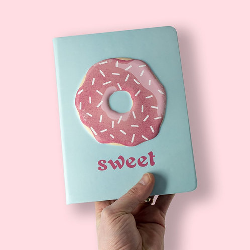 Puff Notebook - Donut