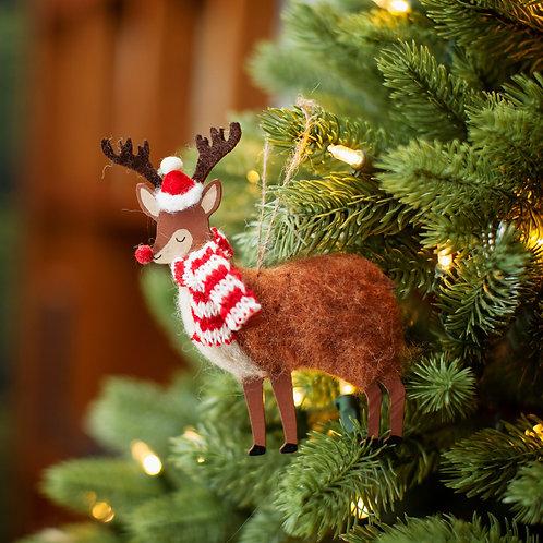 Festive Reindeer Hanging Decoration