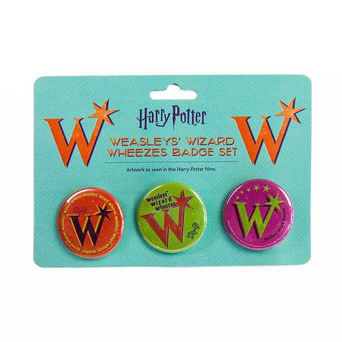 Harry Potter Weasley's Wizard Wheezes Pin Badge Set