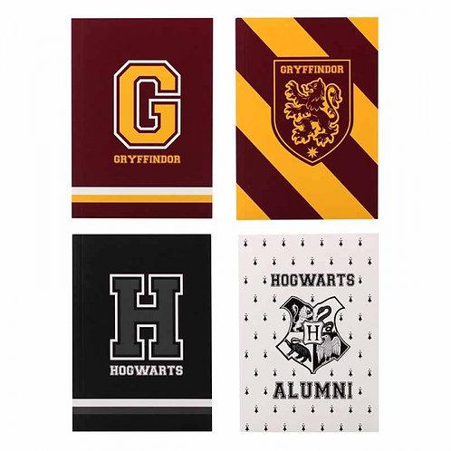 Harry Potter Varsity A6 Notebooks (Set of 4)