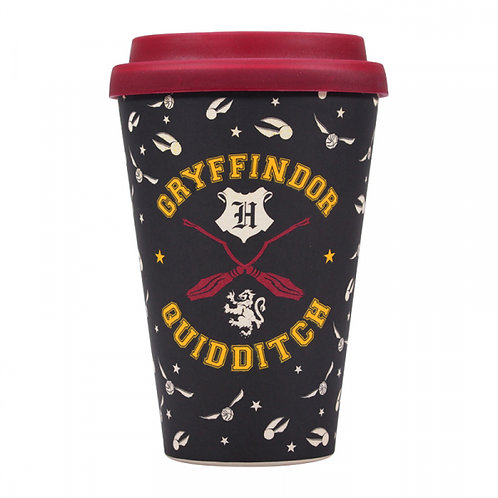 Harry Potter Bamboo Travel Mug - Gryffindor Quidditch Seeker