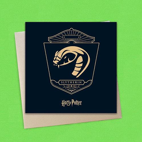 Harry Potter Slytherin Card