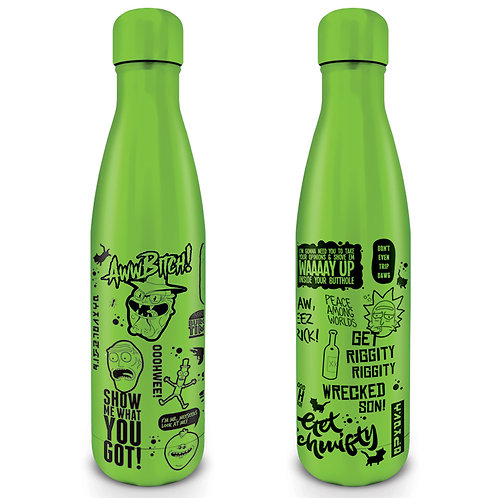 Rick and Morty Metal Water Bottle