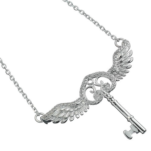 Harry Potter Embellished with Crystals Flying Key Necklace