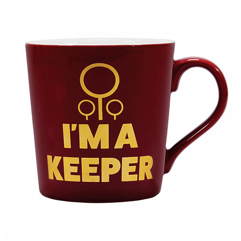 Harry Potter Tapered Mug - Quidditch I'm A Keeper