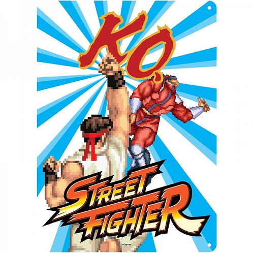 Street Fighter Small Tin Sign (KO)