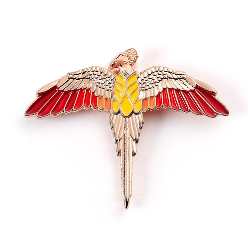 Harry Potter Rose Gold Plated Fawkes Pin Badge
