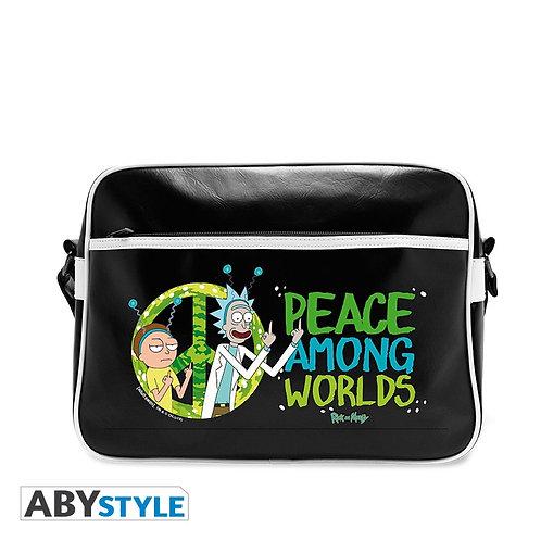 """Rick and Morty Messenger Bag """"Peace"""""""