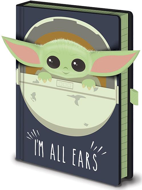 The Mandalorian (I'm All Ears Crib) Premium A5 Notebook