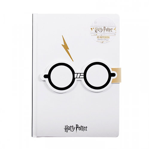 Harry Potter A5 Notebook - Glasses and Lightning Bolt