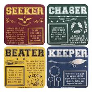 Harry Potter Coasters (Set of 4) Quidditch