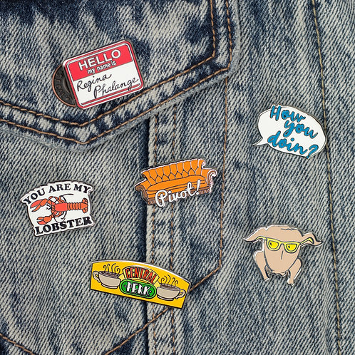 Friends Pin Badges