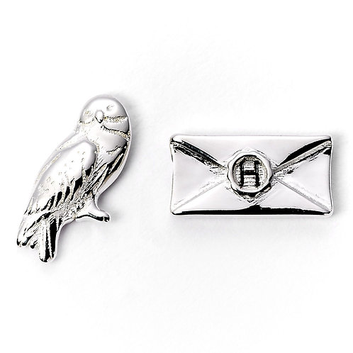 Harry Potter Hedwig & Letter Silver Plated Stud Earrings