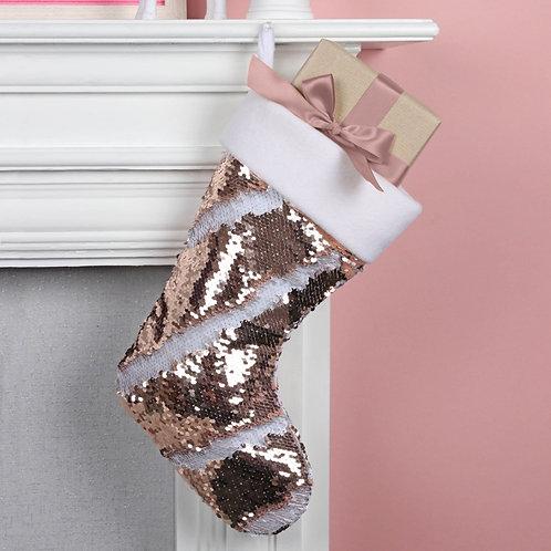 Reversible Sequin Hanging Stocking