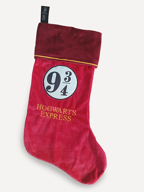 Harry Potter Hogwarts Express 9 3/4 Fleece Christmas Stocking