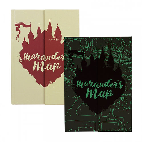 Harry Potter A5 Notebook - Marauders Map - Glow in the Dark