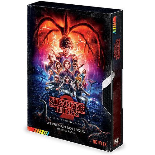 Stranger Things Premium Notebook (Season 2 VHS)