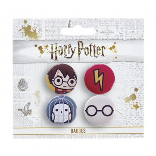 Harry Potter Chibi Pin Badge Set