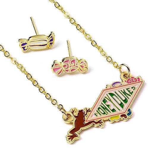 Harry Potter Honeydukes Logo Necklace and Earring Set