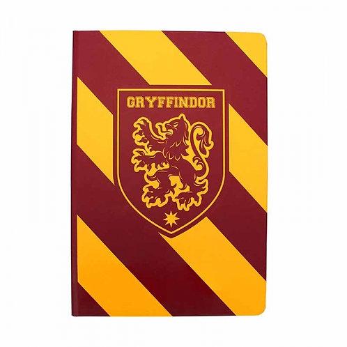Harry Potter Varsity A5 Notebook (Gryffindor Stripe)