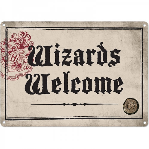 Harry Potter Small Tin Sign - Wizards Welcome