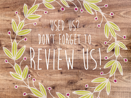 Don't forget to review us!