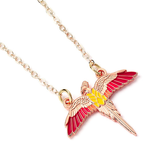 Harry Potter Rose Gold Plated Fawkes Necklace