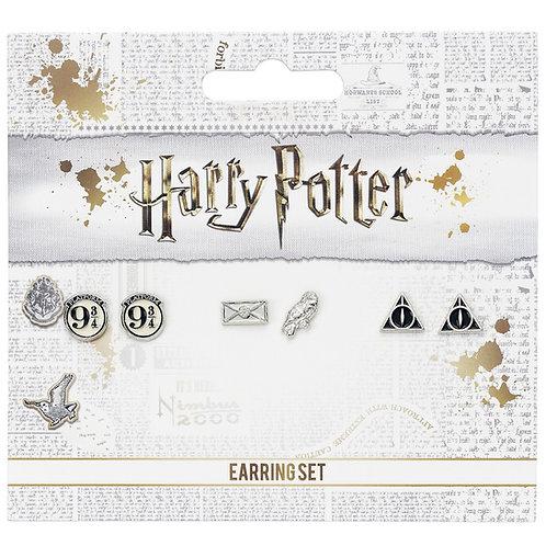 Harry Potter Stud Earring Set (9 3/4, Hedwig & Letter, DH)