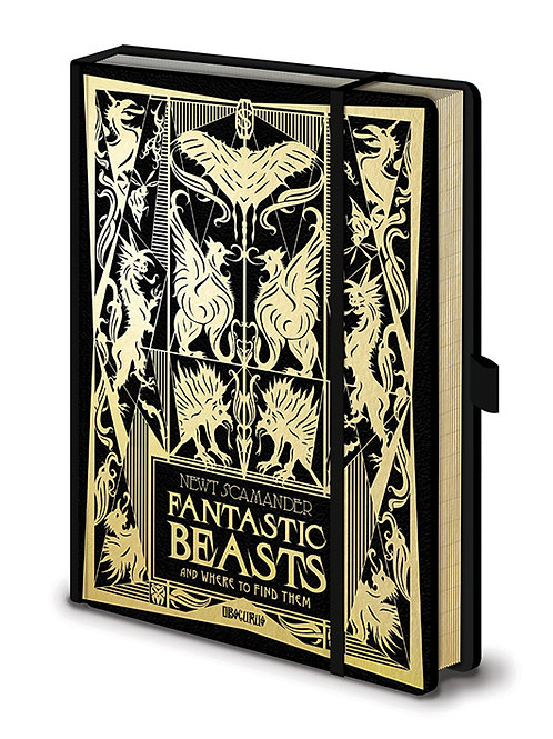 Fantastic Beasts Gold Foil Premium Notebook
