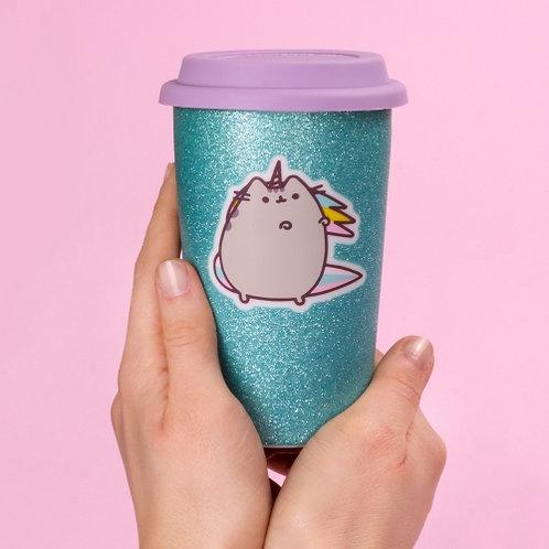 Pusheen Ceramic Glitter Travel Mug