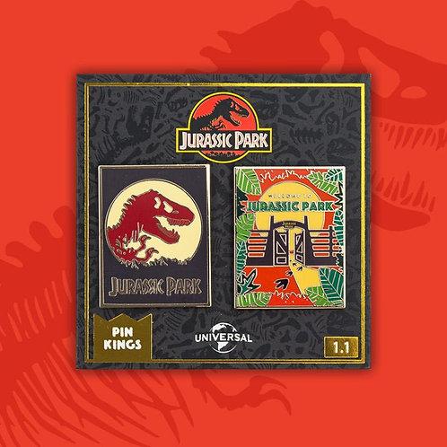 Pin Kings Jurassic Park Enamel Badge Set 1.1